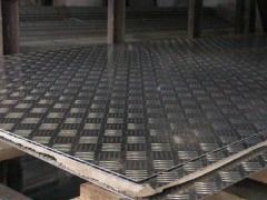 Алюмінієвий лист рифлений квінтет 1мм 1х1х2м 1х1,25х2,5м 1,5х3