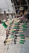 Different hammers for builders, drivers, shoemakers , in your home on