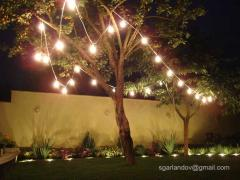 Garlands of lamps for bright holidays and events rental
