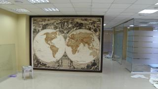 Geographic wall maps to order Kiev