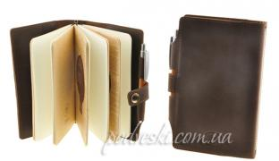 Leather notebook business gift