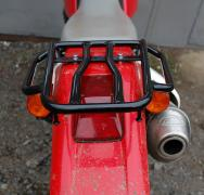 Luggage systems, side frames, risers on the bike