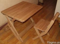 Парта детская деревянная