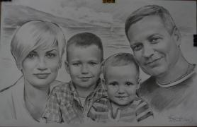 Portrait, draw, custom, photo, inexpensive, pencil, Ukra