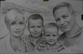 Портрет, нарисовать, на заказ, по фото, недорого, карандаш, Укра
