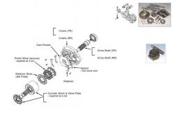 Spare parts for hydraulic pumps and motors