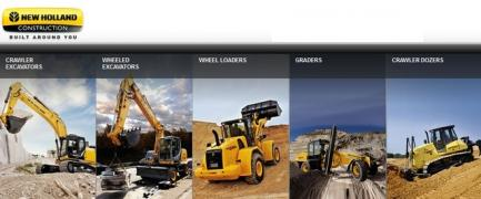 Spare parts for road-construction equipment New Holland