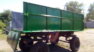 Tipper trailer 2 PTS-4 at circle tractor