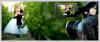 Video photo shoot special events in the winery