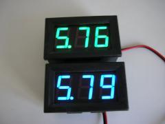 Вольтметры цифровые dc4-30v(синие и зелёные)