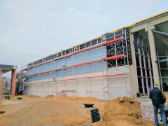 Workers on facades and finishing in Lublin Poland