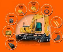 Запасные части дляходовых систем к дорожно-строительной технике